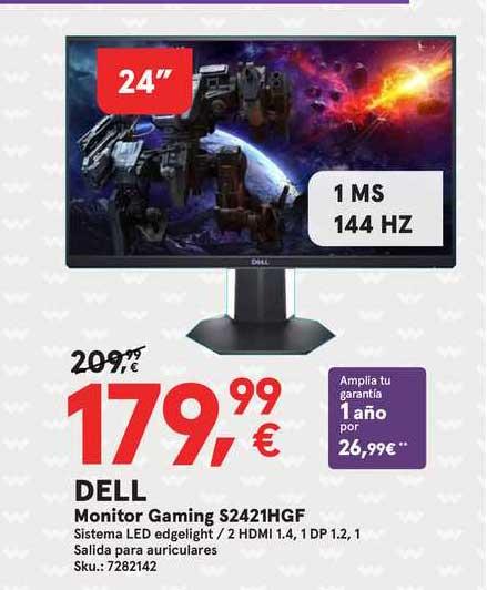 Worten Dell Monitor Gaming S2421hgf