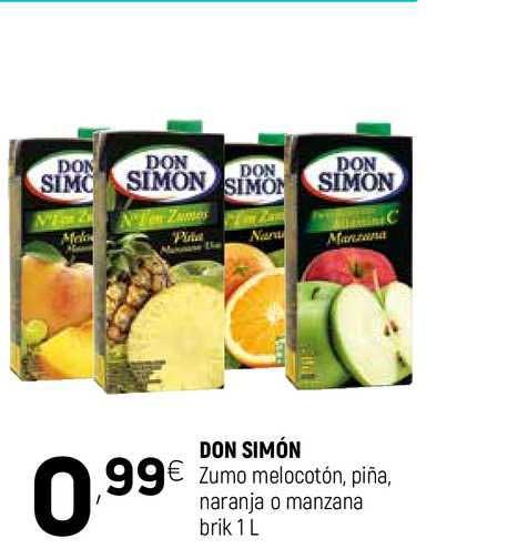 Coviran Don Simón Zumo Melocotón Piña Naranja O Manzana