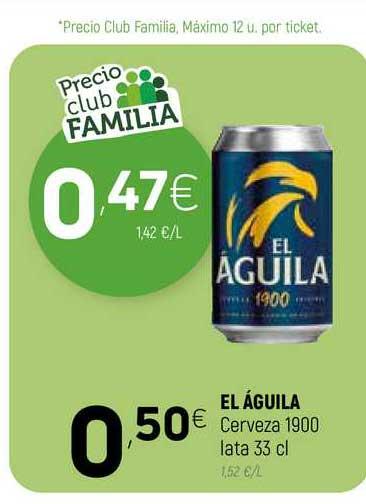 Coviran El águila Cerveza 1900