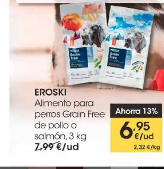 EROSKI Eroski Alimento Para Perros Grain Free De Pollo O Salmón