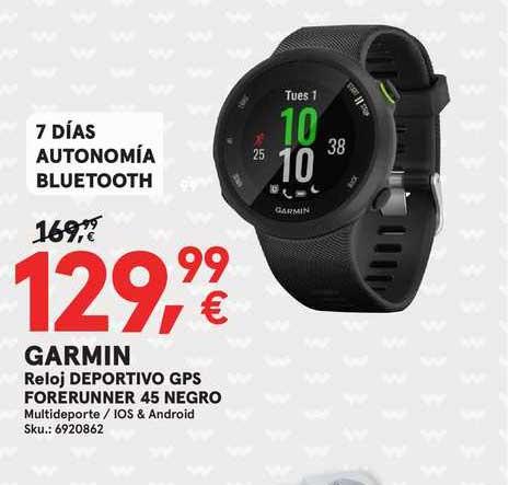 Worten Garmin Reloj Deportivo Gps Forerunner 45 Negro