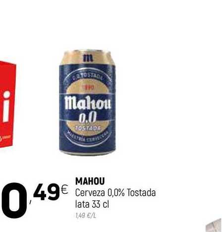 Coviran Mahou Cerveza 0,0% Tostada