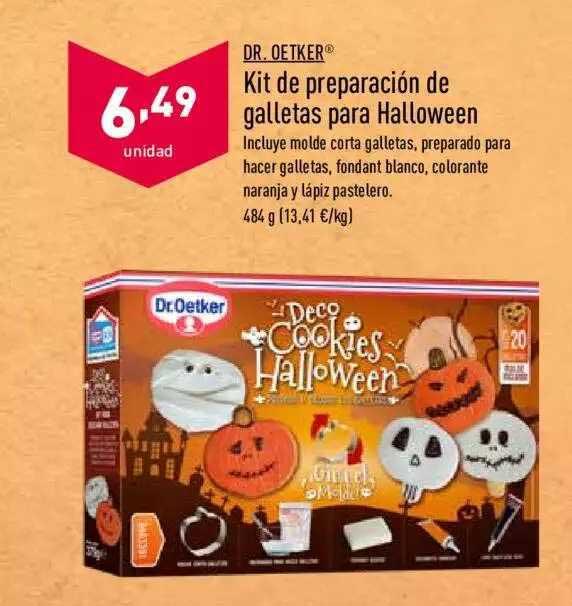 ALDI Dr. Oetker Kit De Preparación De Galletas Para Halloween