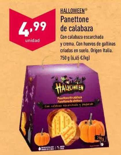 ALDI Halloween Panettone De Calabaza