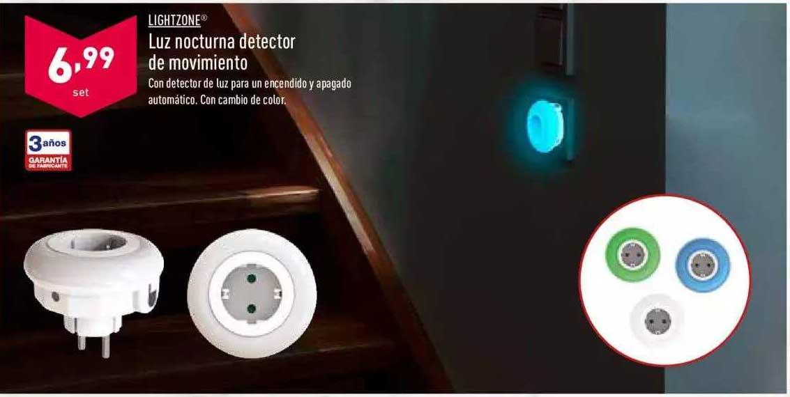 ALDI Lightzone Luz Nocturna Detector De Movimiento