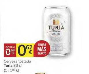 Consum Cerveza Tostada Turia
