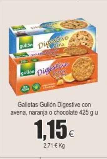 Froiz Galletas Gullón Digestive Con Avena Naranja O Chocolate