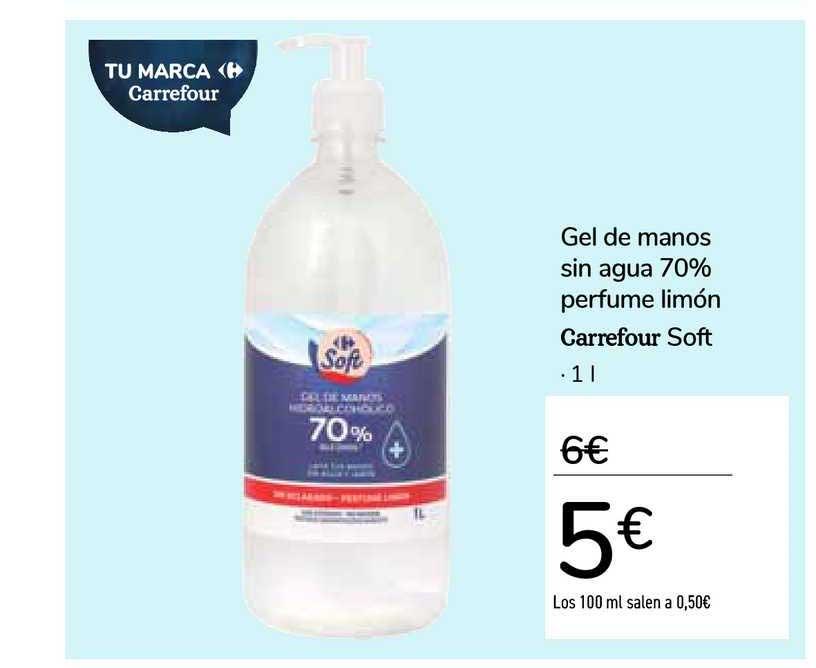 Carrefour Gel De Manos Sin Agua 70% Perfume Limón Carrefour Soft