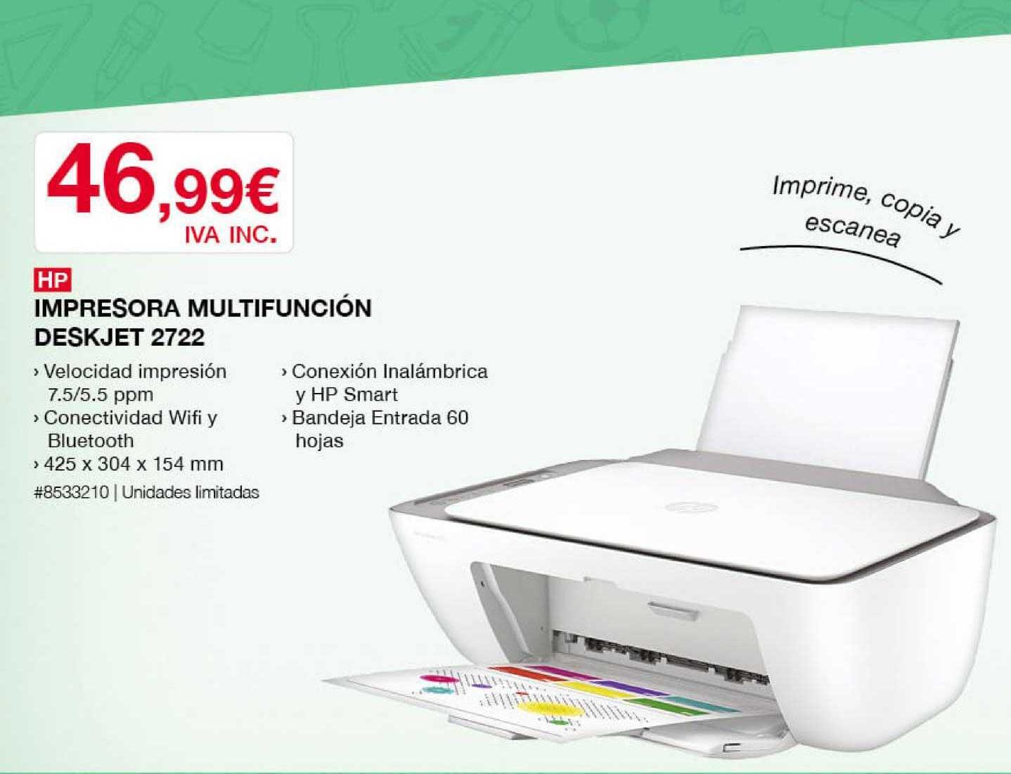 Costco HP Impresora Multifunción Deskjet 2722