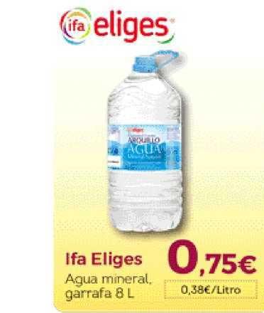 Hiber Ifa Eliges Agua Mineral, Garrafa 8 L