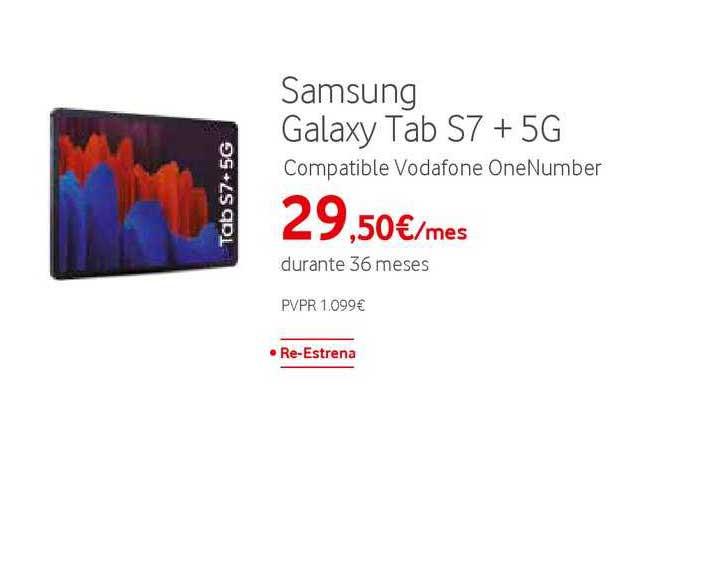 Vodafone Samsung Galaxy Tab S7 + 5G