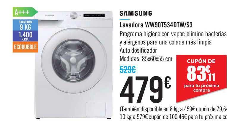 Carrefour Samsung Lavadora Ww90t534dtw S3