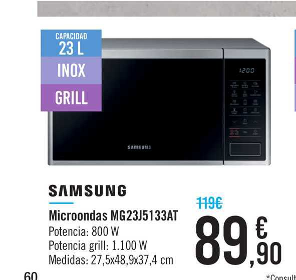 Carrefour Samsung Microondas Mg23j5133at