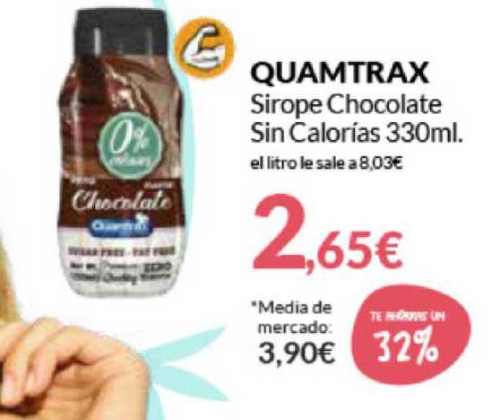 Primaprix Te Ahorras Un 32% Quamtrax Sirope Chocolate Sin Calorias 330ml