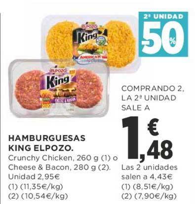 Supercor 2ᵃ Unidad -50% Hamburguesas King Elpozo