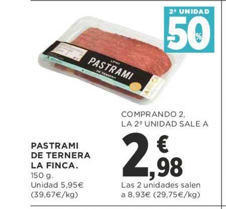 Supercor 2ᵃ Unidad -50% Pastrami De Ternera La Finca. 150 G