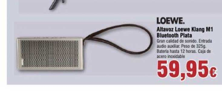 Froiz Altavoz Loewe Klang M1 Bluetooth Plata