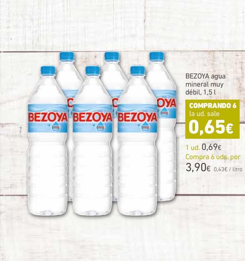 HiperDino BEZOYA Agua Mineral Muy Débil, 1,5 L