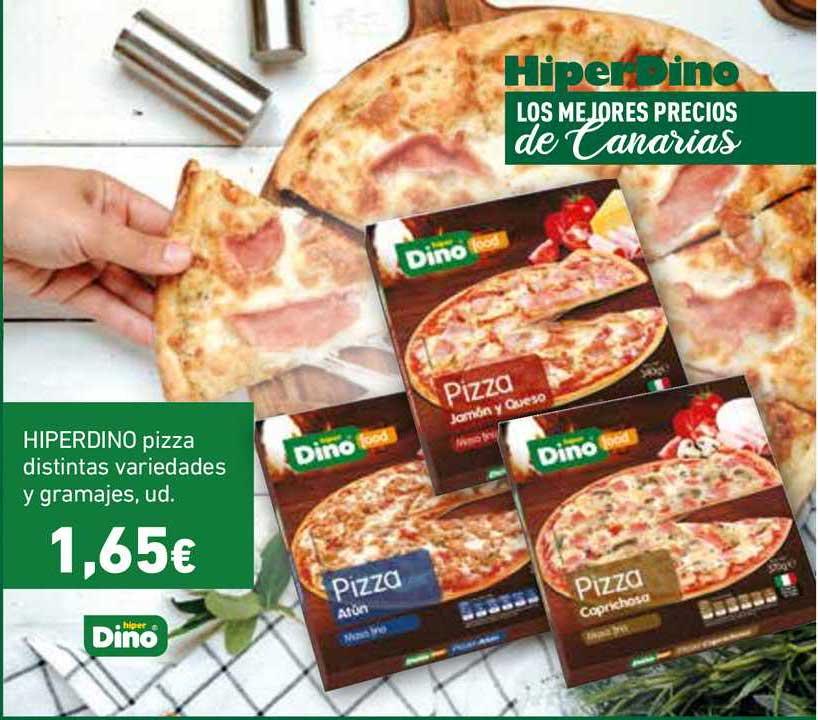 HiperDino HIPERDINO Pizza Distintas Variedades Y Gramajes