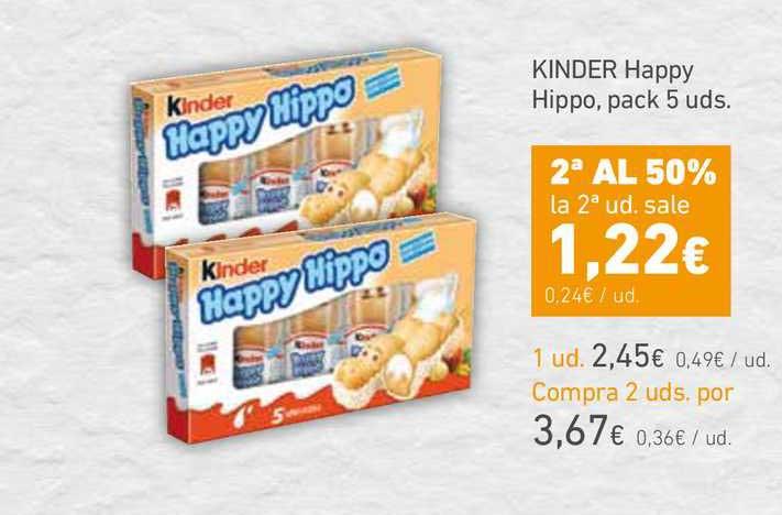 HiperDino Kinder Happy Hippo, Pack 5 Uds.