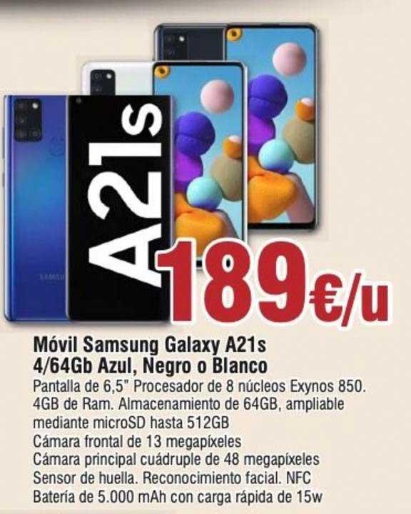 Froiz Móvil Samsung Galaxy A21s 4∕64Gb Azul, Negro O Blanco