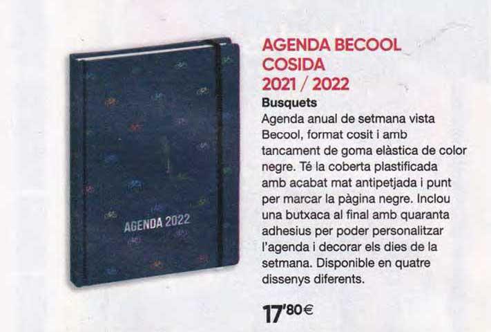 Fnac Agenda Becool Cosida 2021 2022 Busquets