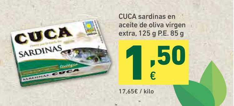 HiperDino Cuca Sardinas En Aceite De Oliva Virgen Extra