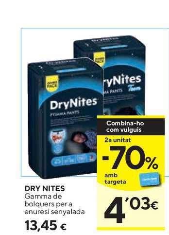Caprabo Dry Nites Gamma De Bolquers Per A Enuresi Senyalada