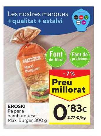 Caprabo Eroski Pa Per A Hamburgueses Maxi Burger