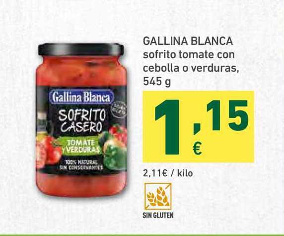 HiperDino Gallina Blanca Sofrito Tomate Con Cebolla O Verduras