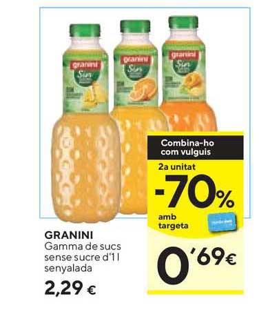 Caprabo Granini Gamma De Sucs Sense Sucre D'1 L Senyalada