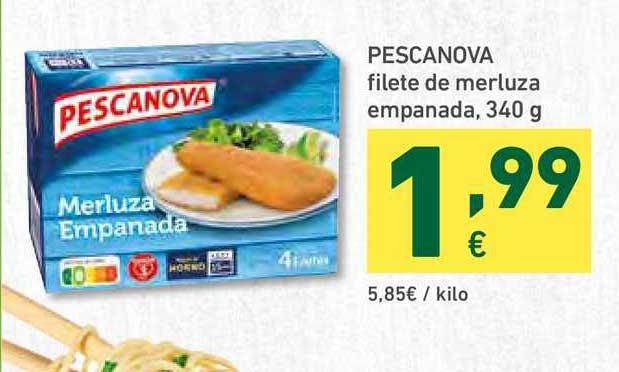 HiperDino Pescanova Filete De Merluza Empanada