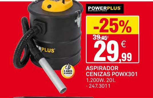 Bricoking -25% Powerplus Aspirador Cenizas POWX301