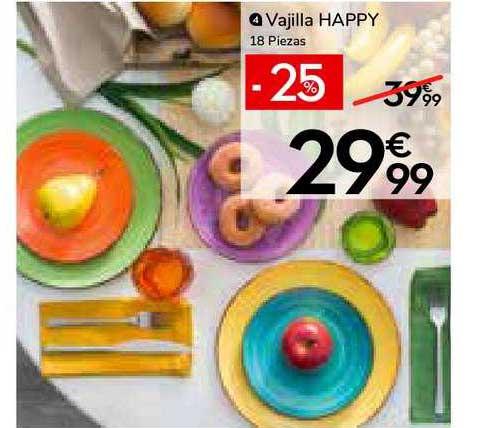 Conforama -25% Vajilla Happy 18 Piezas