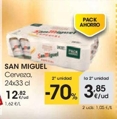 EROSKI 2ª Unidad -70% San Miguel Cerveza, 24x33 Cl
