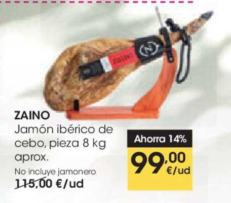 EROSKI Ahorra 14% Zaino Jamón Ibérico De Cebo, Pieza 8 Kg Aprox.