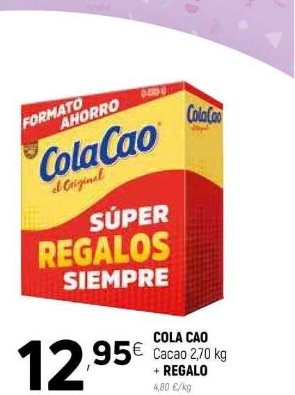 Coviran Cola Cao Cacao 2,70 Kg + REGALO