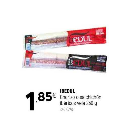 Coviran Ibedul Chorizo O Salchichón Ibéricos Vela 250 G