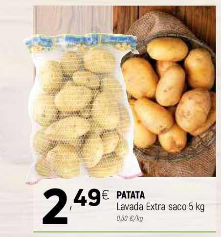 Coviran Patata Lavada Extra Saco 5 Kg