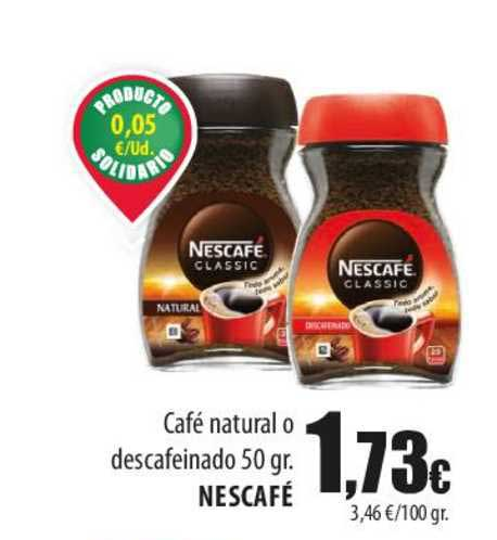 Spar Lanzarote Café Natural O Descafeinado 50 Gr. Nescafé