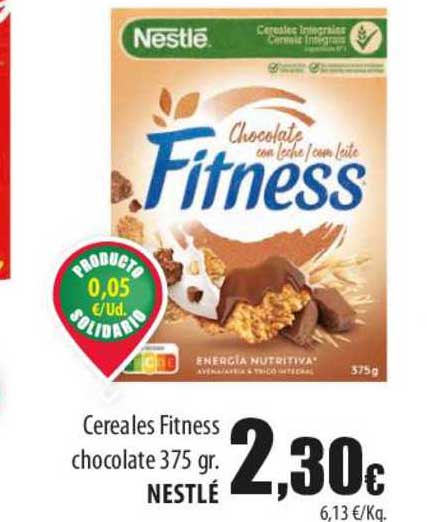 Spar Lanzarote Cereales Fitness Chocolate 375 Gr. Nestlé