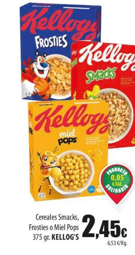 Spar Lanzarote Cereales Smacks Frosties O Miel Pops 375 Kellog's