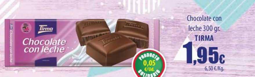 Spar Lanzarote Chocolate Con Leche 300 Gr. Tirma