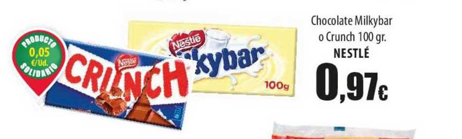 Spar Lanzarote Chocolate Milkybar O Crunch 100 Gr. Nestlé