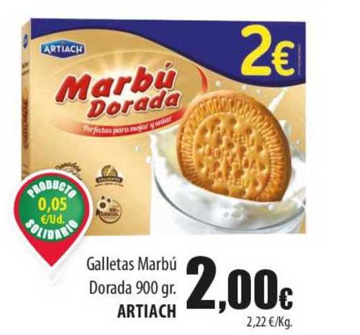 Spar Lanzarote Gallettas Marbú Dorada 900 Gr. Artiach