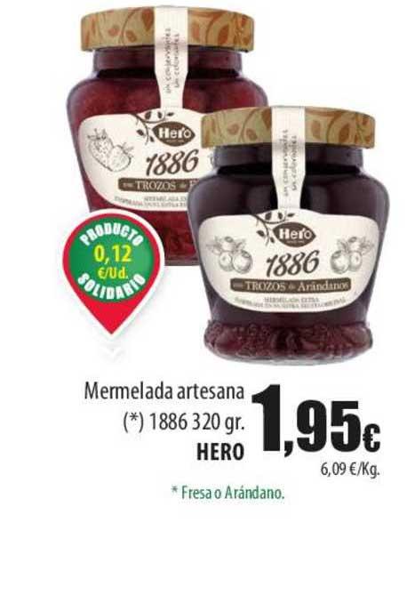Spar Lanzarote Mermelada Artesana 1886 320 Gr. Hero