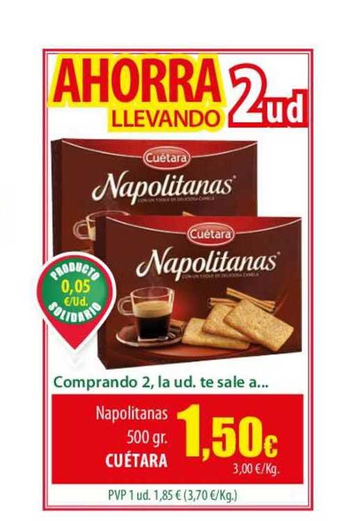 Spar Lanzarote Napolitanas 500 Gr Cuétara