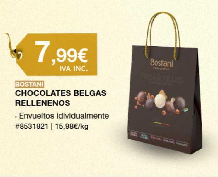 Costco Bostani Chocolates Belgas Rellenenos