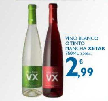 Supermercados La Despensa Vino Blanco O Tinto Mancha Xetar 750 Ml