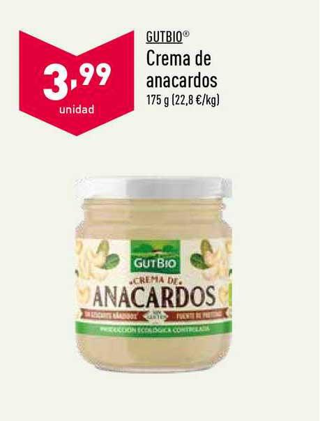 ALDI Gutbio Crema De Anacardos 175g